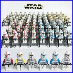 100X Minifigures Star Wars Red&Black Trooper 501st Clone Army Building toys kids