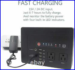 200Wh 3.7V 42000mAh/1 AC Outlet Portable Power Bank Generator USB Laptop CPAP