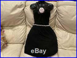 $3,300 Chanel Oscar Red carpet Penelope Pearl Camellia Dress 34 36 2 4 6 S Small