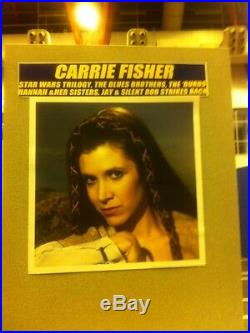 Carrie Fisher Hand Signed Autograph Star Wars Black Series Princess Leis Figure