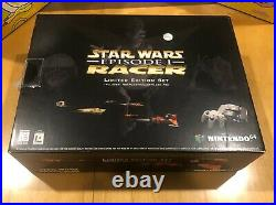 Nintendo 64 Video Game Console N64 Star Wars Episode I Racer Limited Ed, CIB